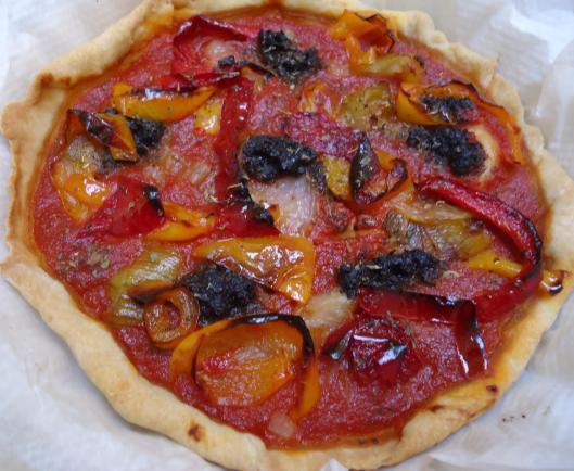 tarte-tomate-poivron-olivade