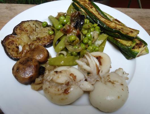 seiche-plancha-légumes-plancha