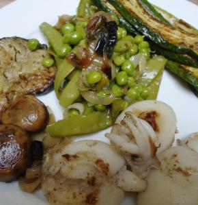 seiche-légumes'plancha