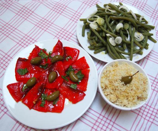poivrons-grillés-haricots-verts-semoule