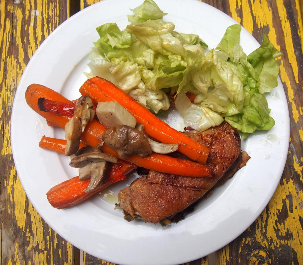 Canette aux carottes confites et quelques cèpes, on est gourmand ou on ne l'est pas ! (5/5)