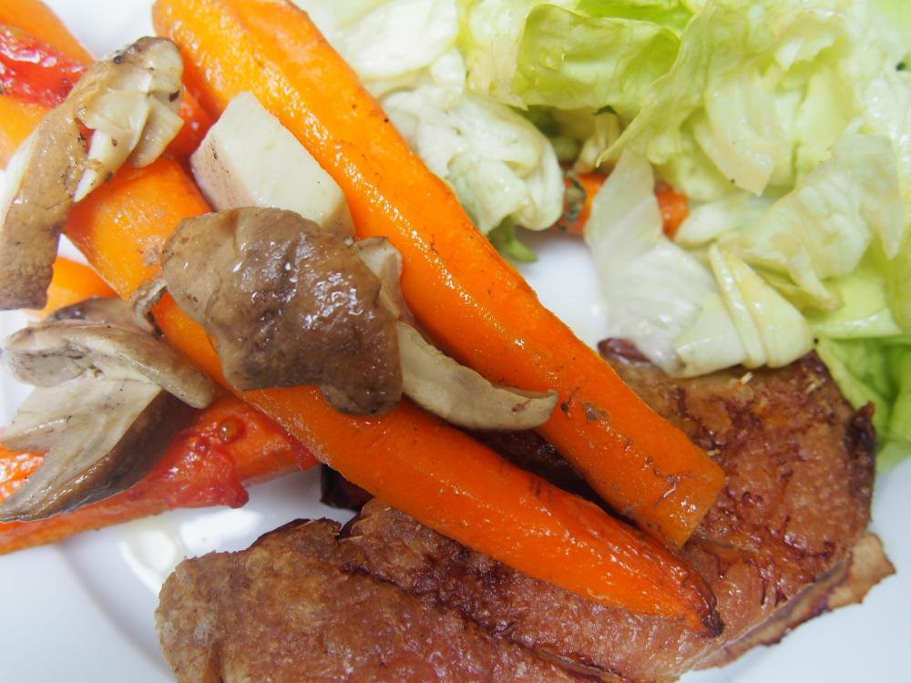 Canette aux carottes confites et quelques cèpes, on est gourmand ou on ne l'est pas ! (4/5)
