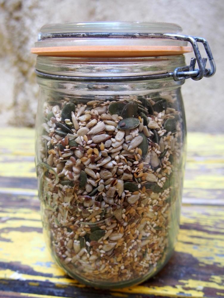 Mon mélange de graines et une salade pour les sublimer. (6/6)
