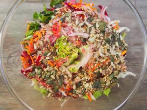 salade-automne-bio-graines-combinaisons alimentaires