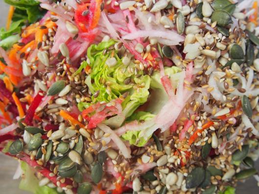 salade-automne-graines-combinaisons alimentaires