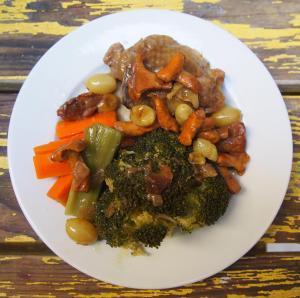 pintade-girolle-raisin-combinaisons alimentaires-sans gluten