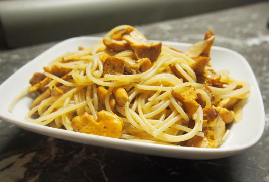 spaghettis-girolle-végan-combinaisons alimentaires