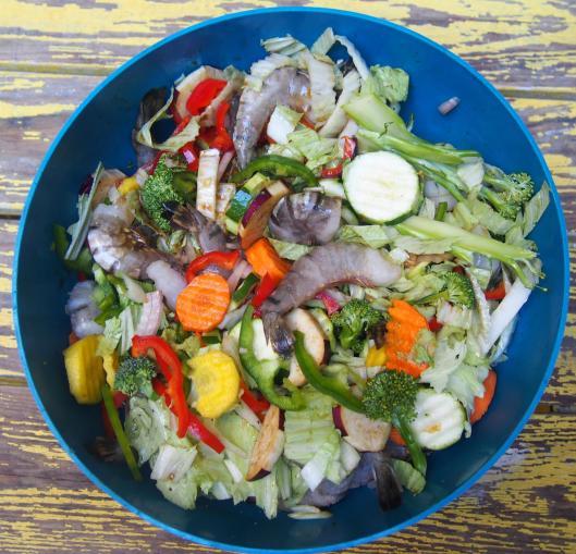 shop suey-crevette-légume