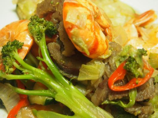 shop suey-crevette-légume-combinaisons alimentaires