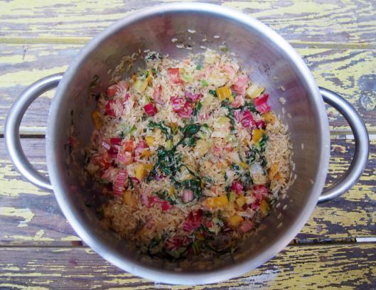 riz pilaf-poirées