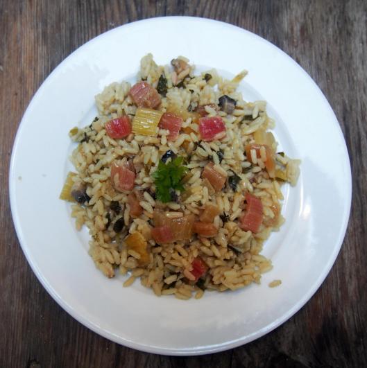 riz pilaf-poirée