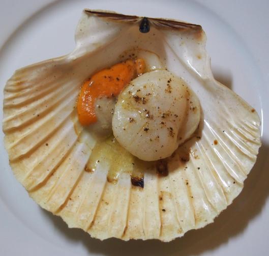 coquille saint jaques-noilly prat-cuisson-cheminée