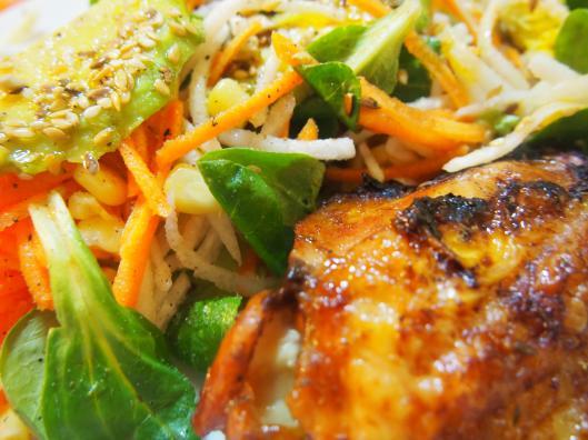 poulet-salade