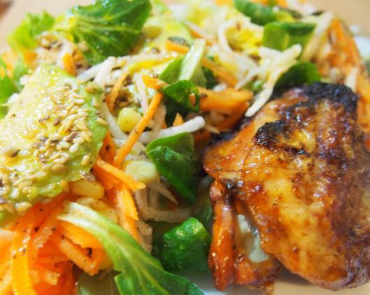 poulet-asiatique-salade-hiver