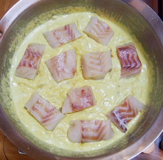 cabillaud-crème de coco-feuilles de curry