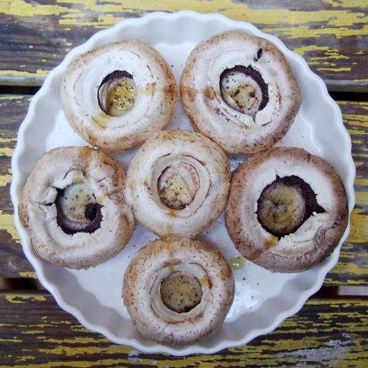champignons farcis-végan-sans gluten