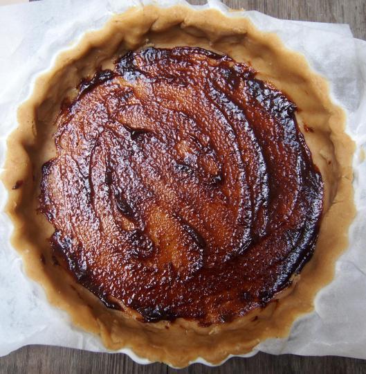 p$ate-tarte-végan-crème de pruneaux