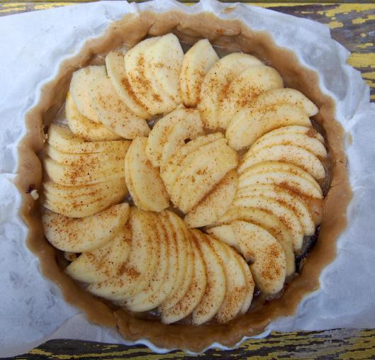 pâte-tarte-végan-crème de pruneaux-compote-pommes
