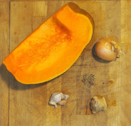 ingrédients-soupe-courge-végan-sans gluten