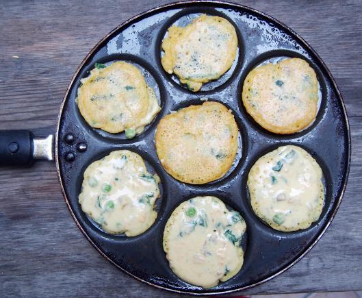 crêpe-galette-farine pois chiche-légume-curry-végan-sans gluten