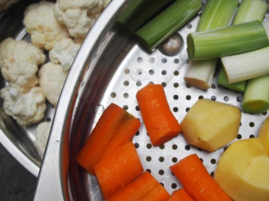 légumes-vapeur'sans gluten-végan-combinaisons alimentaires