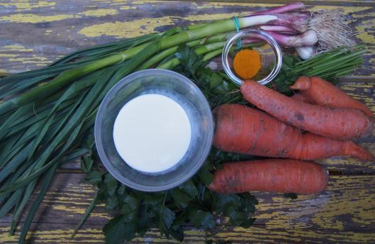 carotte-aillet-curcuma-sans gluten-végan-Halles de Narbonne-blogueuse Narbonne