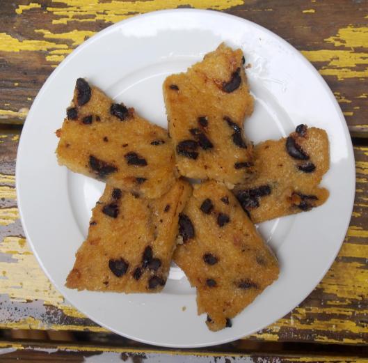 Polenta-olives noires-blog Narbonne-blogueuse Narbonne-sans gluten-végan-combinaisons alimentaires