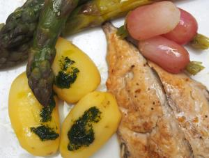 maquereau-filet-marinade-sauce verte-combinaisons alimentaires-sans gluten-blog Narbonne-Blogueuse Narbonne