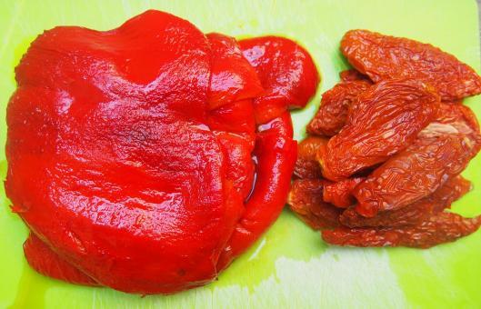 poivron-poivron grillé-tomate séchée-huile d'olive-ail-basilic-sans gluten-végan-blog Narbonne-blogueuse Narbonne-Carole Caillaba Suchet