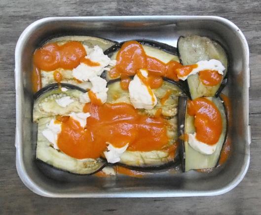 aubergine-burrata-coulis de tomate-accompagnement-sans gluten-blog Narbonne-blogueuse Narbonne-Carole Caillaba Suchet