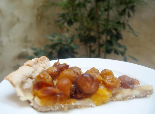 tarte-mirabelle-végan-régalades en cascade-blog Narbonne-blogueuse Narbonne-forum des associations Narbonne