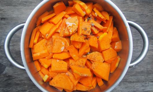 purée-citrouille-sans gluten-combinaisons alimentaires-shiitaké-blog Narbonne-blogueuse Narbonne