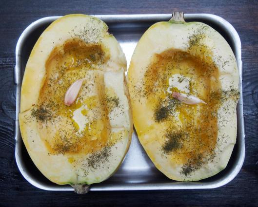 courge spaghetti-saumon-saumon fumé-aneth-combinaisons alimentaires-sans gluten-blog cuisine-blog Narbonne-blogueuse Narbonne
