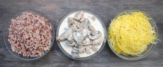 sauté de proc-crème-sauge-champignons-riz-riz rouge-la Rizière-Etang de Marseillette-courge spaghetti-sans gluten-blog cuisine-blog Narbonne-blogueuse Narbonne